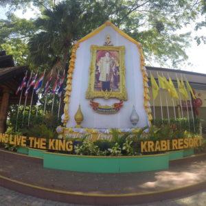 En Tailandia la monarquía es muy respetada como vimos en este hotel de Ao Nang, ¡y más te vale!