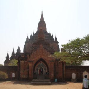 El templo Sulamani desde fuera de su propia muralla