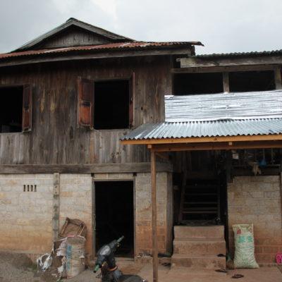 La casa donde dormimos el primer día