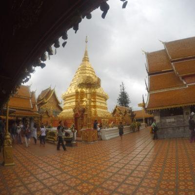 La pagoda central de Doi Suthep