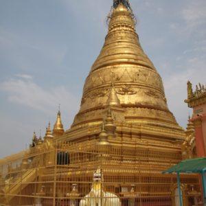 La pagoda en la cima del Sagaing Hill, cubierta de oro... Una más para la lista