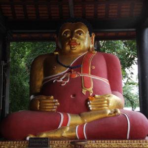 Hasta entonces no habíamos visto ningún buddha gordo como este