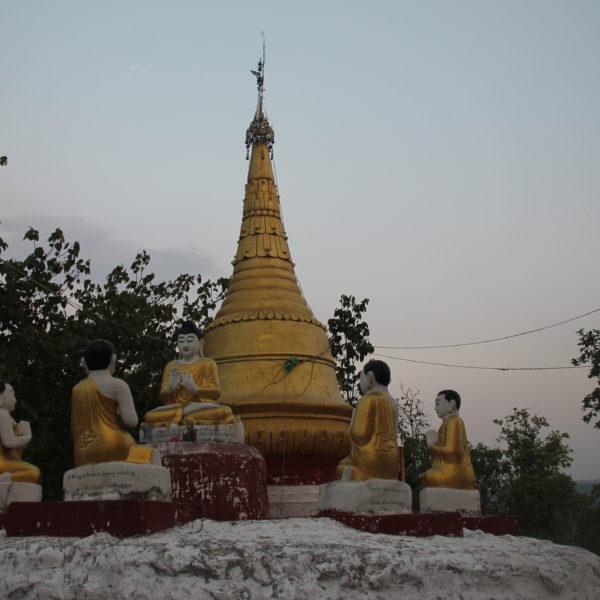 La pagoda es obligatoria en prácticamente todas las cimas