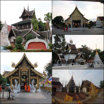 En Chiang Mai pasamos frente a muchos templos, aunque no entramos en todos