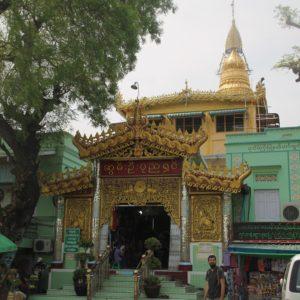 El templo en la cima del Sagaing Hill
