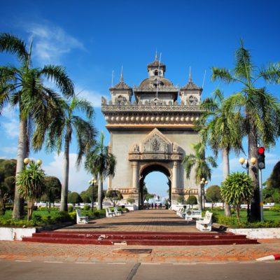 """El Arco de la Libertad, o """"Liberty Gate"""" que al parecer quiere semejarse al Arco del Triunfo francés"""