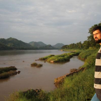 El Mekong es un río que nos acompañó durante todo el recorrido de Laos, pero lo vimos aquí por primera vez