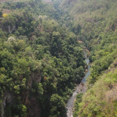El cañón visto desde el centro del viaducto