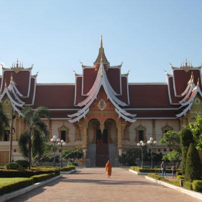 El templo del complejo Pha That Luang