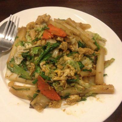 Es la única vez que hemos comido noodles enrollados, parecían macarrones