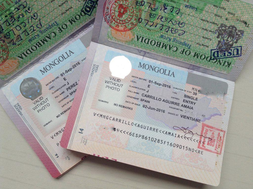 Visado de Mongolia