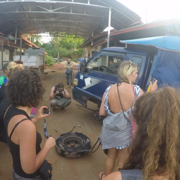 Todos los que viajábamos alucinamos con la rueda