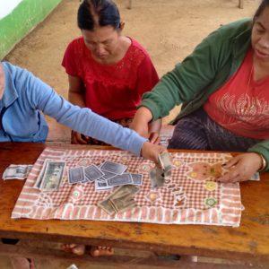 Por segunda vez en Laos veíamos mujeres jugando a cartas y apostando bastante dinero