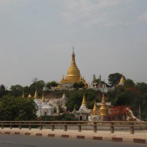 Una pequeña parte de Sagaing vista desde el puente