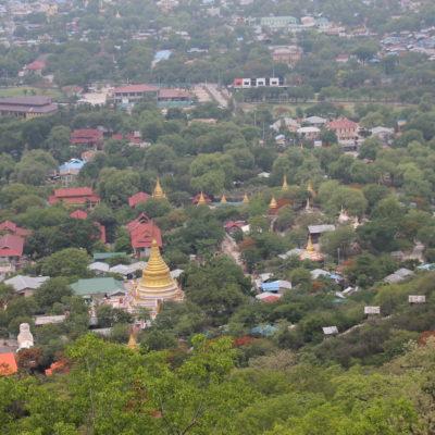 Desde el Mandalay Hill nos sorprendió un Mandalay muy verde