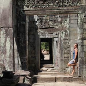Como muchos otros templos, el interior de Preah Khan son estancias conectadas por puertas colocadas una tras otra