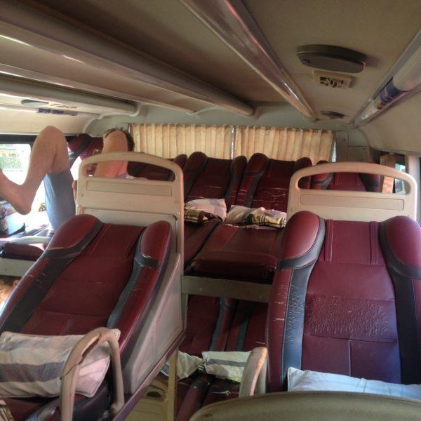 Los sleeper bus están muy bien preparados para pasar la noche