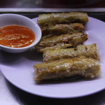Los rollitos vietnamitas no fueron como nos esperábamos, pero estaban muy buenos también