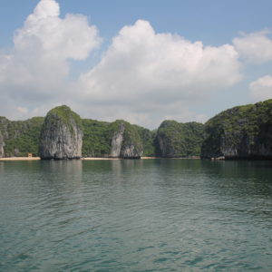Playas, islas, rocas que sobresalen... La bahía está llena de diferentes rincones
