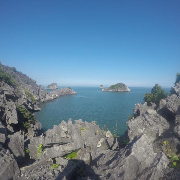 Las vistas desde el punto hasta donde llegamos del mirador de Monkey Island