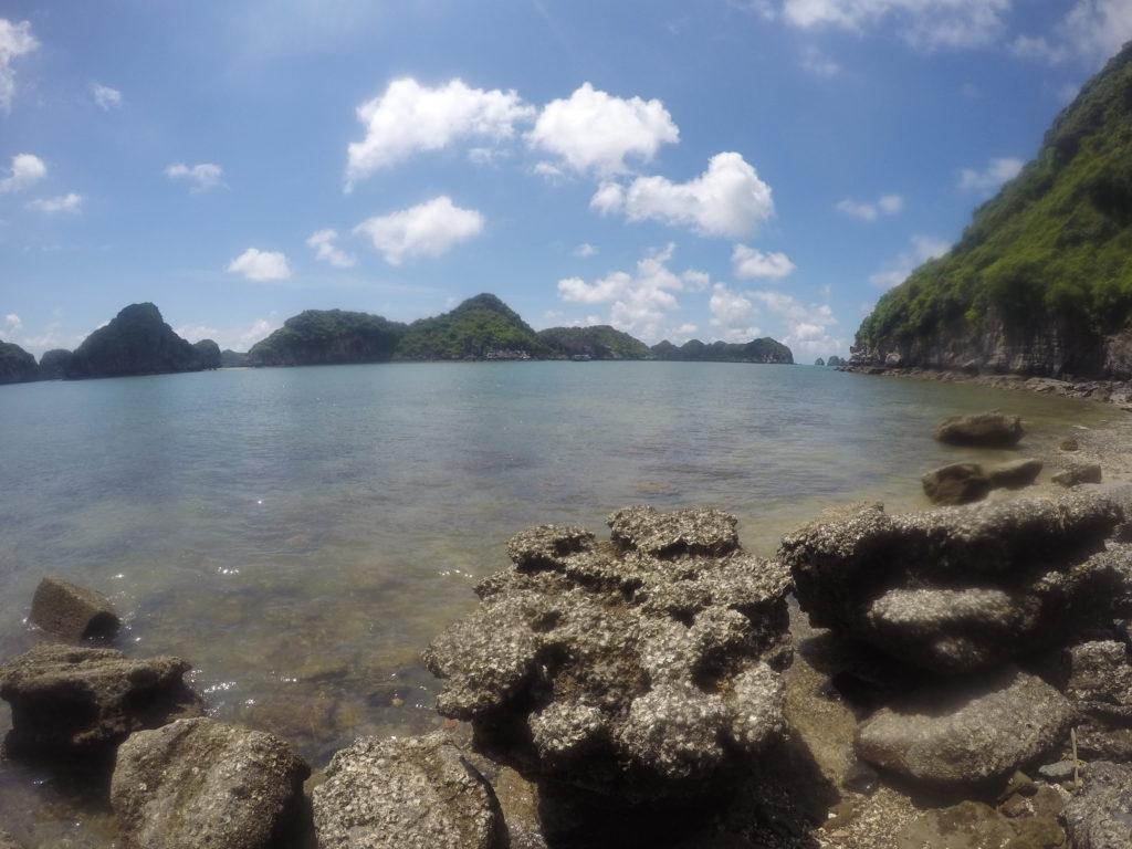 Playa de rocas