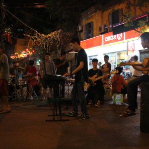 El concierto de música en directo que encontramos en otra zona más tranquila
