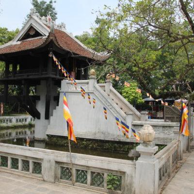 La bonita Pagoda de Un Solo Pilar