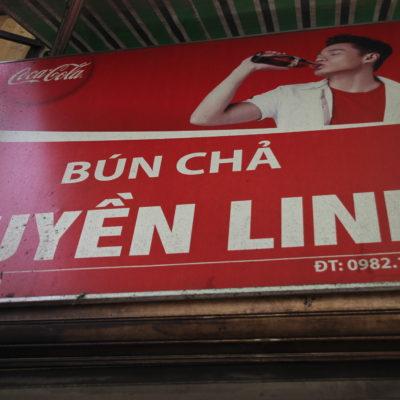 El cartel del restaurante, para que lo identifiqueis al pasar por delante
