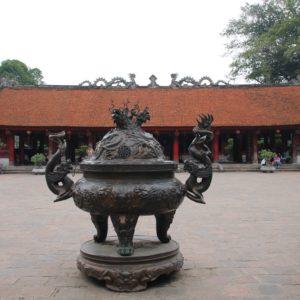 El recinto cuenta con varios templos y patios no muy recargados