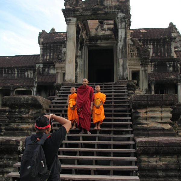 Coincidimos con unos monjes que estaban haciendo sesión de fotos, ¿sería para algún calendario?