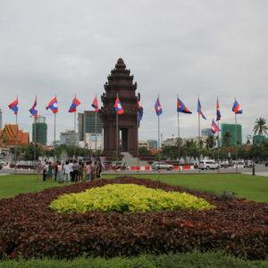 El Monumento de la Independencia es una enorme rotonda