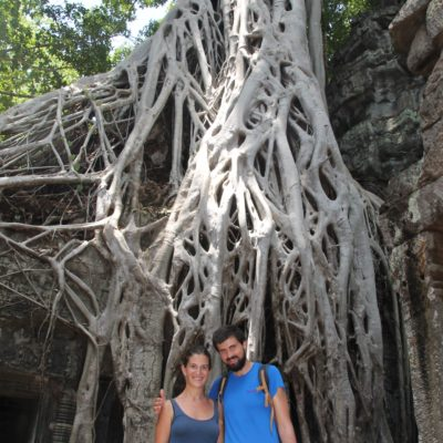 Ta Prohm está llena de árboles con este tipo de raíces enmarañadas