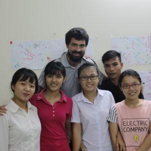 Los estudiantes que hicieron grupo con Nico