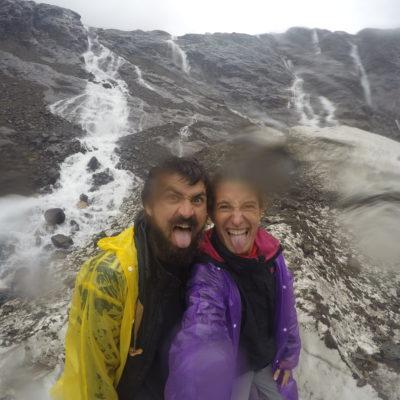 La GoPro estaba empapada por la lluvia pero no podíamos dejar de sacarnos selfies