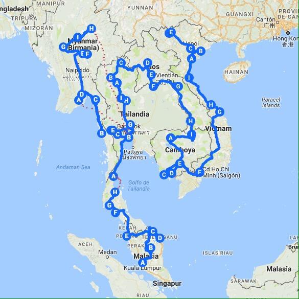Ruta sureste asiático