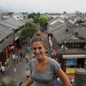 La vista de las calles de Dali desde este templo fueron encantadoras y llenas de vida
