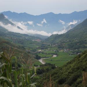 Las nubes daban al valle un toque místico, aunque hubieramos preferido un cielo soleado