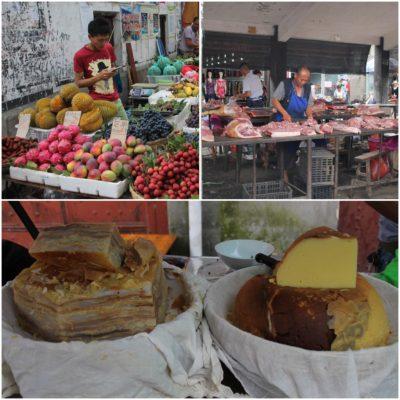 En el mercado encontramos cosas nuevas y otras no tan nuevas pero que no esperábamos ver, como frutas tropicales