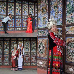 El templo está decorado de forma tan chula que muchos chinos suben con ropas tradicionales a hacerse fotografías