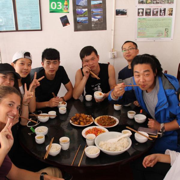 El grupo de jóvenes chinos fueron super simpáticos