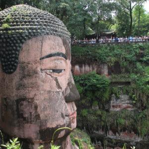 La cabeza de buddha es lo primero que vimos, que es por supuesto enorme