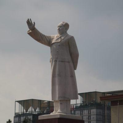 La estatua de Mao Zedong