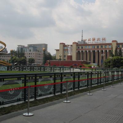 La céntrica plaza Tianfu