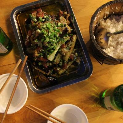 Y esta barbacoa de comida de Sichuan fue el plato estrella, una pena que estuviera aceitosa