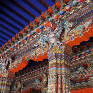 La decoración en ambos templos resultó muy colorida y llamativa