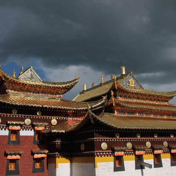 Los tejados dorados brillaban intensamente dandoles un toque más señorial aún