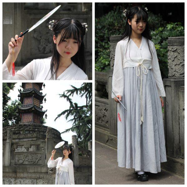 Tuvimos suerte de coincidir con esta china vestida en con el traje tradicional para una sesión de fotos