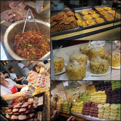 También comida muy variada: fría, caliente, snacks, postres...