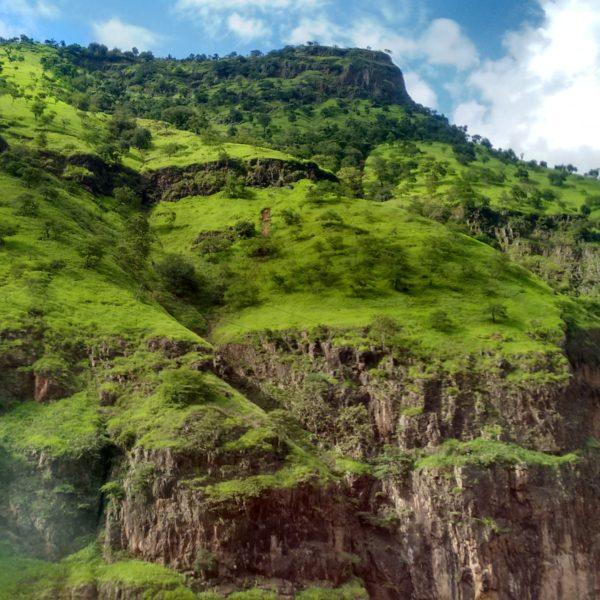Desde el autobús pudimos ver bonitos paisajes de China