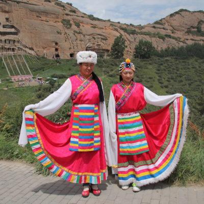 También es típico vestirse con el traje tradicional para sacarse fotos